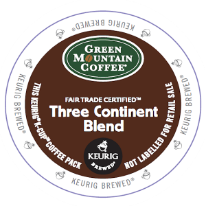 Green Mountain K Cup three continent blend 300x300 Coffee Products